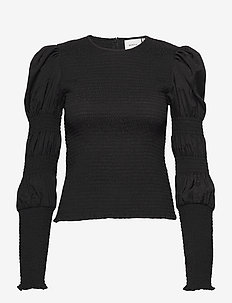 MazziGZ ls blouse MS21 - långärmade blusar - black