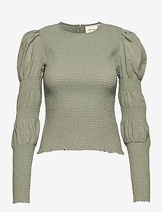 MazziGZ ls blouse - langærmede bluser - slate gray