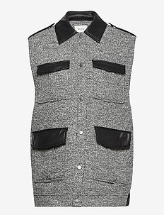 LucilaGZ waistcoat - puffer vests - herringbone dusty green