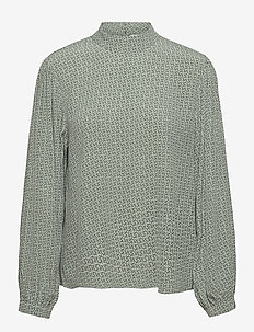 MoaGZ blouse MS21 - långärmade blusar - green logo