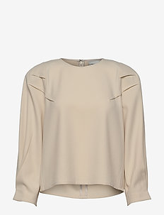 KlaraGZ blouse MS21 - langærmede bluser - moonbeam