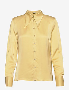 JerleGZ shirt - langermede skjorter - dried moss