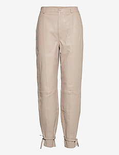 NioaGZ HW pants MS21 - læderbukser - pure cashmere