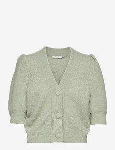 DebbieGZ puff cardigan - koftor - sky gray melange