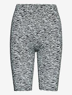 PiloGZ MW printed short tights - cykelshorts - grey wave