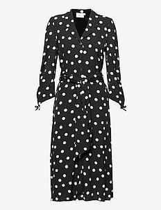 FjolaGZ dress - skjortekjoler - black w/grey dot