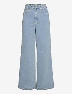 ElmaGZ HW wide pants - brede jeans - light blue
