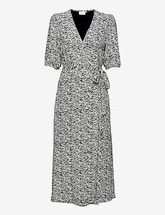 DisGZ wrap dress - robes de jour - grey wave