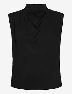 BertaGZ sl blouse - Ärmlösa blusar - black