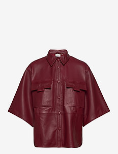LiljaGZ SS shirt - overshirts - red rhubarb