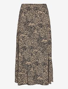 JodisGZ HW skirt - midi nederdele - sahara dust leo