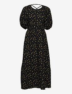 AveryGZ dress - sommerkjoler - tulip black and yellow