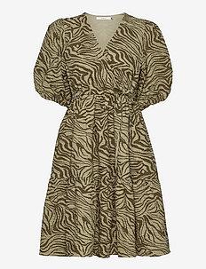 AveryGZ short dress - sommerkjoler - elm zebra