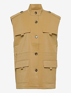 EyaGZ waistcoat - Ärmellose blazer - yellow sahara dust