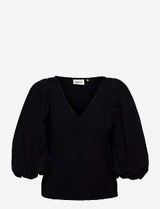 NemaGZ blouse - langærmede bluser - black