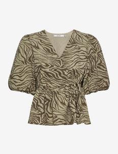AveryGZ blouse - kortærmede bluser - elm zebra