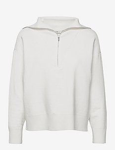 TalliGZ zipper pullover - trøjer - egret