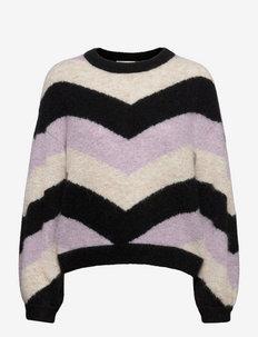 AlphaGZ M pullover - trøjer - pastel lilac stripe
