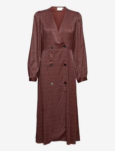 IlaGZ button dress - cocktail-mekot - cinnamon square dot