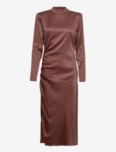 IlaGZ turtleneck dress - aftonklänningar - cinnamon square dot
