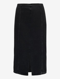 DenaGZ HW midi skirt - midi nederdele - washed black