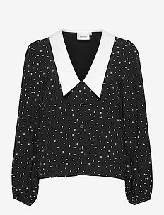 KatlaGZ ls shirt - langærmede skjorter - black w. white dot