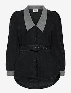VakaGZ V-neck shirt - langærmede skjorter - washed grey