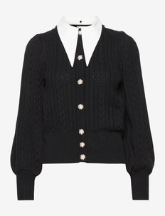 RawanGZ collar cardigan - neuletakit - black