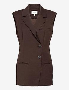 AlexandraGZ waistcoat - blazere uten ermer - coffee bean