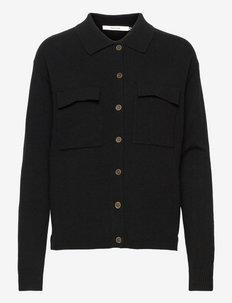 ThildaGZ wool cardigan - langærmede skjorter - black