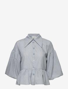 AritasGZ shirt - langærmede skjorter - light blue/grey stripe