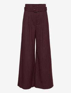 EsiaGZ HW pants - uitlopende broeken - bordeaux pinstripe
