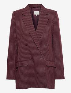 EsiaGZ blazer - dobbeltspent blazer - bordeaux pinstripe