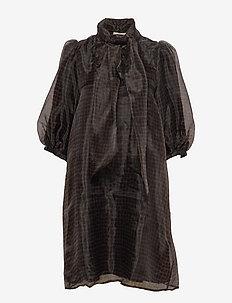 LiviaGZ short dress - lattica carafe check