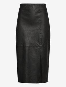 LaraGZ HW skirt - leren rokken - black