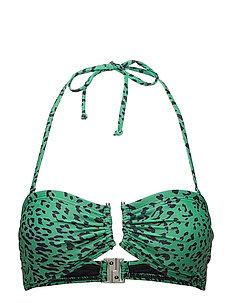 Canta bikini top AO18 - GREEN LEOPARD