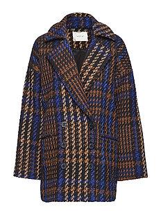 Kelli jacket MA18 - BLACK/WHITE/BLUE/CARAMEL