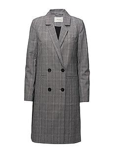 Danielle coat ZE1 18 - BLACK/WHITE CHECK