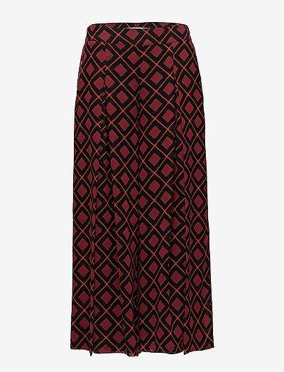 Erica culottes AO18 - bukser med brede ben - red square