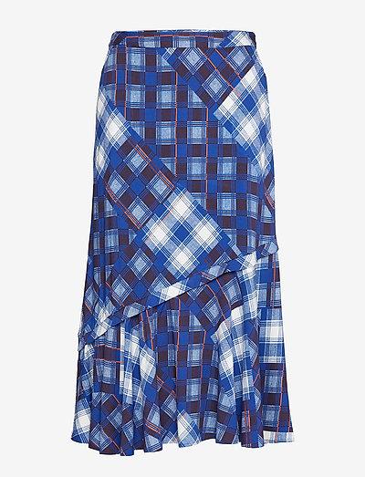 LuanneGZ skirt MA19 - midi nederdele - blue check