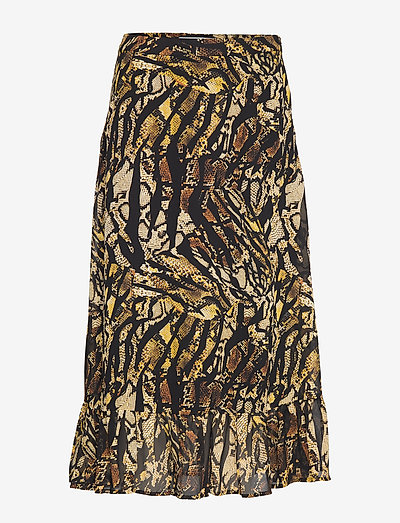 TasnimGZ skirt MA19 - midi nederdele - stripe yellow snake