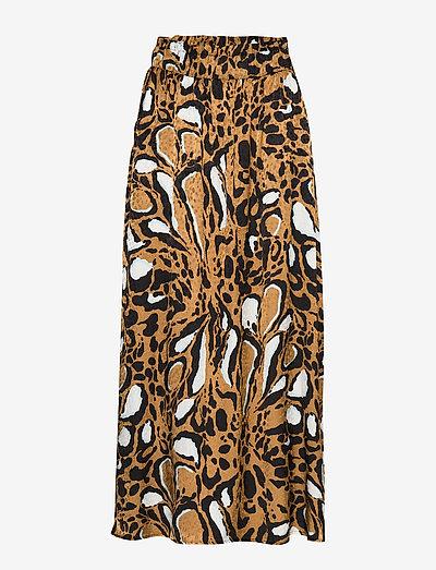 LoriGZ skirt SO20 - midi nederdele - brown leo