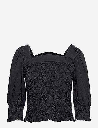 LenaGZ blouse - langærmede bluser - black
