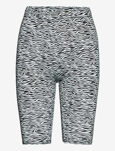 PiloGZ MW printed short tights - sykkelshorts - grey wave