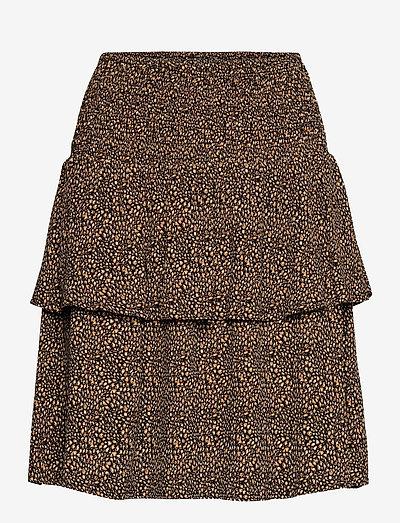 LifGZ skirt - midi nederdele - brown mini leo