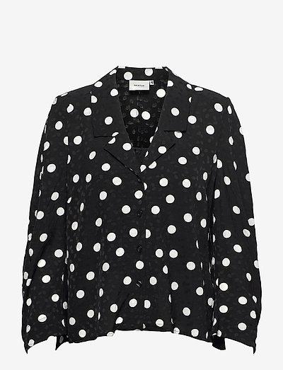 FjolaGZ duo shirt - langermede bluser - black w/grey dot