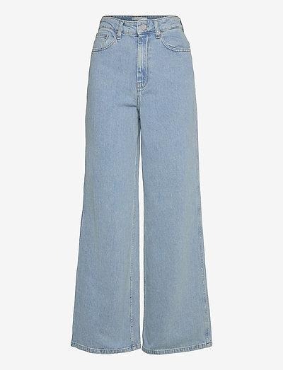 ElmaGZ HW wide pants - vide jeans - light blue