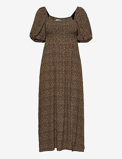 LifGZ long dress - midi dresses - brown mini leo