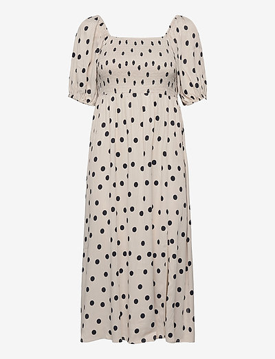 DoraGZ short dress - sommerkjoler - off white w black dot