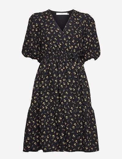 AveryGZ short dress - sommerkjoler - tulip black and yellow